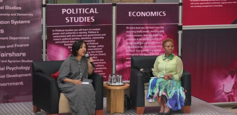 Charleen Duncan and Lindiwe Zulu